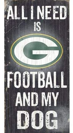Fan Creations NFL Football and My Dog Textual Art Plaque NFL Team: Green Bay Packers