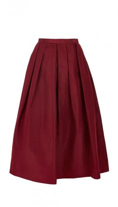 Our most popular take on the timeless full skirt flatters the waist, while inverted pleating creates a voluminous silhouette.  Wear yours with a cropped top or with a tucked-in blouse for a classic look.  Hidden zip closure at side seam, on-seam pocket.  Fully lined. Fabrication: 100% Silk Faille. Dry Clean Only.    Style number: T0000SIF52237Tibi Essentials items are ineligible for promotional code use.