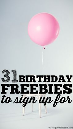 Birthday freebies can be a way to enjoy your birthday for cheap. You can receive free birthday stuff, such as food, clothing, and more. 31st Birthday, Birthday Fun, Birthday Stuff, Free Birthday Gifts, Birthday Goals, Birthday Treats, Birthday Wishes, Birthday Parties, Ways To Save Money