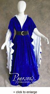 Scalloped Sleeve Houppelande Dress