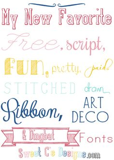 12 Awesome New Fonts For Every Mood Cute Fonts, Pretty Fonts, Fancy Fonts, New Fonts, Awesome Fonts, Calligraphy Fonts, Typography Fonts, Typography Design, Stencil