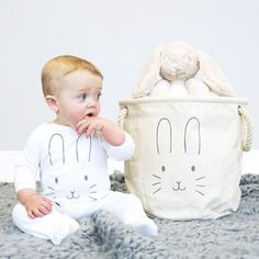 Bunny Face Baby Gift Hamper - easter decorations