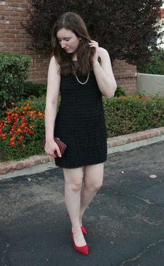 Little Black Dress, red heels
