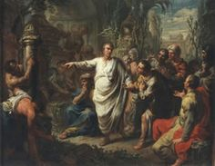 Cicero (3 januari 106 v. Chr. – 7 december 43 v. Chr.) - Cicero ontdekt het graf van Archimedes door Martin Knoller, 1775