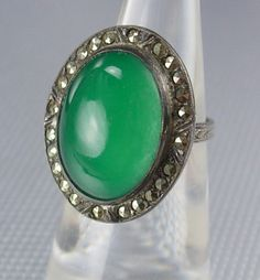 Antique Stone of Venus Chrysoprase Ring  by vintagesparkles, $145.00