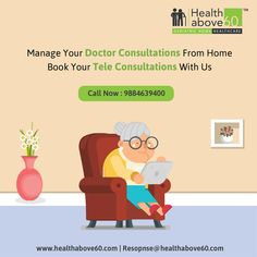 You need not worry about getting your regular #doctor checkups. We bring #doctorconsultations to your door step at your convenience. Contact us on 98846 39400. #HomeDoctorVisits #Healthabove60 #Geriaticcare Doctor On Call, Good Doctor, Chennai, No Worries, Health Care, Books, Libros, Book, Book Illustrations