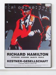 Richard Hamilton - Original Artist Poster 1991 – Art & Vintage Store Ltd Vintage Prints, Vintage Posters, Richard Hamilton, Original Vintage, Exhibition Poster, Real Life, Fine Art Prints, Poster Prints, Museum