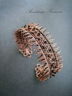 Gorgeous wire work bracelet by nastya-iv83 via Deviant Art