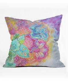 Look at this #zulilyfind! Flourish Throw Pillow by DENY Designs #zulilyfinds