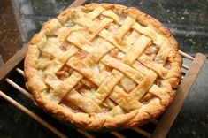 Looking for a dessert recipe for those fresh pears? Try this pear pie recipe - a 2-crust pear pie with lattice top and cinnamon in the fresh pear filling.