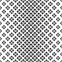 Monochrome repeating geometric pattern