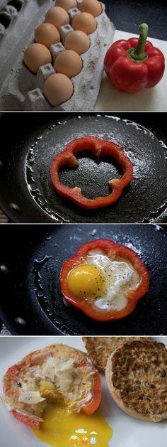 Una forma diferente de hacer el desayuno. ¡Haz la prueba! #Brunch #Cocina #Recetas