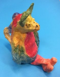 Y7 clay work for the 'Crazy Creature' Project. St Marys Catholic High School.