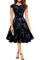 Find Dress Robe de Bal/Soirée Sexy Vintage année 40 50 60 avec l'impression Rose