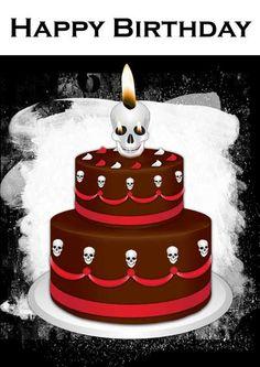 Gothic Cake Birthday Card - my-free-printable-cards.com