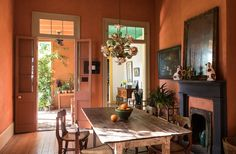 Dining Room, Dining Table, Kitchen Colors, Room Colors, Colorful Rooms, Table Settings, Indoor, House Design, Interior Design
