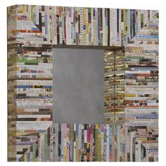 Love this to add a pop of color to bedroom or living room-Found it at Wayfair - Magazine Silver Thread Square Mirror