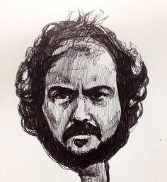 Stanley Kubrick #sketch #stanleykubrick #art #portrait #director #film #movie #theshining #aclockwor - woodrowdrawspictures
