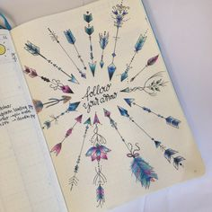 """'Follow your arrow"""" One of my most favourite spreads in my bullet journal! - www.christina77star.co.uk"""
