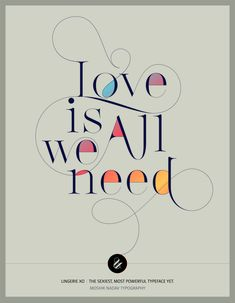 Love is all we need. Designed with Lingerie XO typeface by Moshik Nadav Fashion Typography. Available only on www.moshik.net #lingeriexo #xo #typography #type #newfont #newtypeface #fonts #font #typeface #fashion #fashiontypography #fashionmagazine #logo #logotype #moshik #moshiknadav #ligatures #ligature #typografie #swashes #graphicdesign #branding #packaginga