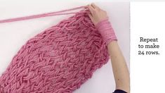 Arm Knitting How To for Beginners
