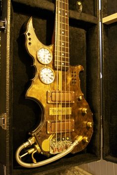I know, I know steampunk is just goth with brown instead of black but this Steampunk Bass is pretty cool.