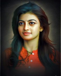 How To Oil Painting Portrait Beautiful Girl In India, Most Beautiful Indian Actress, Beautiful Girl Image, Beautiful Actresses, Beautiful Gif, Art Photography Portrait, Girl Photography, Actress Without Makeup, Samantha Images