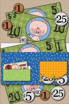 Great learning tool -  Free Kids Printable Wallet With Play Money. |  from Kids Activities Blog