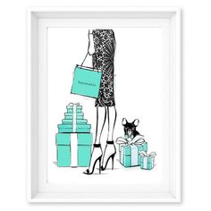 Limited Edition Print - Tiffany Boxes - Megan Hess