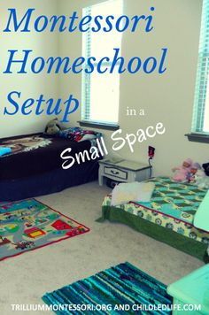 Montessori Setup in a Small Space by Marie Mack of ChildLedLife