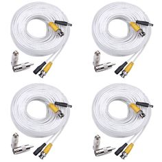 Shop for masione 4 pack 50 feet dvr cctv camera video power cable shop for masione 4 pack 50 feet dvr cctv camera video power cable cord rca bnc 4x 50ft cctv bnc dvr wire surveillance security home wired cable con publicscrutiny Image collections