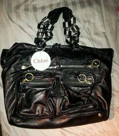 Stylish & Authentic Black CHLOE Betty Chain Tote Reg $2000! Free Shipping! #Chloe #TotesShoppers