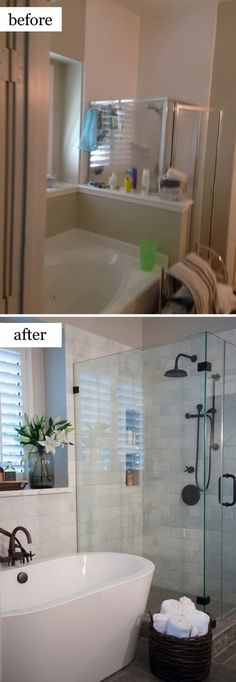 Growing weary of your outdated bathroom? We've got excellent DIY bathroom ideas to inspire your renovation plans. Whether you want a cottage farmhouse bathroom makeover, budg #tinybathrooms