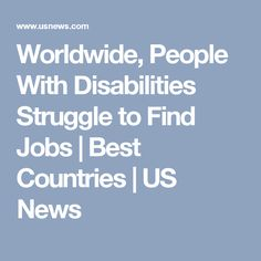 In the US people with disability struggle to find a job where those who have disability has only increased to where in the last the percentage was only Find A Job, Disability, People, People Illustration, Folk