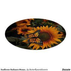 Sunflower Radiance Monarch Butterfly Cutting Board