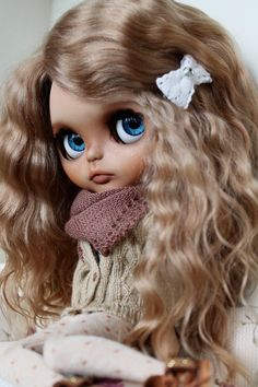 RESERVED Bianca Custom Blythe Doll OOAK Art by NDsDazzlingDollys