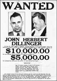 John Dillinger's Wanted Poster