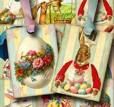 EASTER TIME Digital Collage Sheet Instant Download for Gift Tags Greeting Cards Arts and Crafts  #2014 #Easter #Day #card #decor #craft #ideas www.loveitsomuch.com