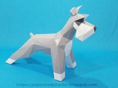 Perro Shcnauser papercraft Paper Puppets, Paper Toys, Blender 3d, Low Poly, Dog Sculpture, Art Carved, Dog Houses, Art Sketchbook, Arts And Crafts