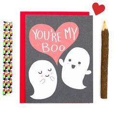 Du bist mein Boo Funny Valentine 's Day Card Funny von TurtlesSoup - DIY and crafts - Valentinstag Funny Love Cards, Cute Cards, Diy Cards, Valentines Day Card Funny, Valentine Day Crafts, Valentine Ideas, Valentine Cards, Tarjetas Diy, Pun Card