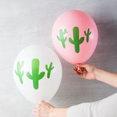 - 3 balloons per package - Measures when inflated - High-quality, biodegradable latex - USA Baby Shower Gender Reveal, Baby Shower Themes, Shower Ideas, 17th Birthday, Birthday Love, Taco Party, Party Party, Party Ideas, Cactus Balloon