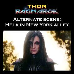 Marvel Funny, Marvel Memes, Captain Marvel, Marvel Avengers, Avengers Memes, Hela Thor, Thor Ragnarok Hela, Loki Thor, Loki Aesthetic