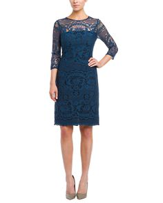 Adrianna Papell Turkish Blue Lace Dress is on Rue. Shop it now.