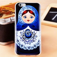 Newest Lovely Russian Dolls Pattern Phone Cases for iPhone 5 5S SE 6 6Plus 6S 6sPlus Soft TPU Durable Matryoshka Cover Wholesale