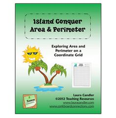 Island Conquer Area and Perimeter Game for math centers or cooperative learning partners