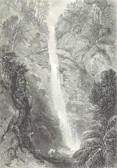 Waterfall near Adelaide,South Australia 1873