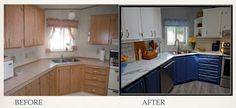 Before & After of the Clean-up and Prep Zones Diy Kitchen, Kitchen Cabinets, Before After Kitchen, Clean Up, Kitchens, Design, Home Decor, Decoration Home, Room Decor
