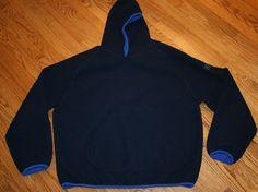 Polo Sport Ralph Lauren blue fleece Pullover Hoodie Sweatshirt Jacket Men's 2XL #PoloSport #Hoodie
