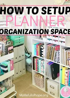 Organization Ideas planners Easy How to Setup Planner Organization Space How to set up a planner organization space that is pretty, easy to organize and budget friendly. Sticker Storage, Sticker Organization, Home Office Organization, Craft Organization, Organizing Your Home, Organising, Craft Storage, Organizing Ideas For Office, Stationary Organization