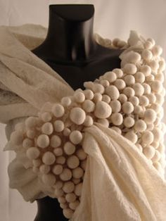 Exquisite felted shawl by Charlotte Bush. Not much known about the felt artist/designer. via Renew Gallery